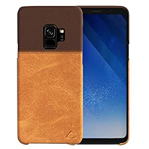 Stuffcool Lush Dual Tone PU Leather Back Case Cover for Samsung Galaxy S9 - Dark Brown / Light Brown
