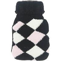 Promobo Wärmflasche Chaufferette-Taschenlampe Hand mit Bezug Raute weiß und schwarz preisvergleich bei billige-tabletten.eu