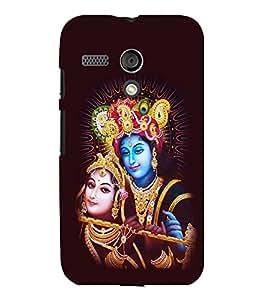 printtech Lord Radha Krishna God Back Case Cover for Motorola Moto G X1032::Motorola Moto G (1st Gen)