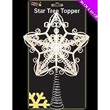 30cm Hermoso Blanco reluciente Tree Top Star - del árbol de navidad (DP38)
