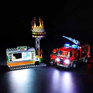 BRIKSMAX Kit di Illuminazione a LED per Lego City Fire Burger Bar Fire Rescue,Compatibile con Il Modello Lego 60214… Lego Outlet LEGO