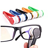 Mini Glasses Cleaner Microfiber Spectacles Eyeglasses Sunglasses Brush Wipe Clean Tools Pack of 1 (Color May Vary)