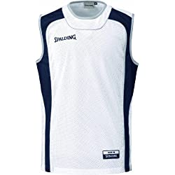 Spalding - Kit de equipación de baloncesto de 3 piezas, talla XXXL, color blanco/azul marino