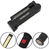Gusspower USB Recargable LED COB Lámpara de Trabajo Linterna de mano – COB LED Linterna Luces de inspección con Magnética – Auto, Camping, Home Emergency, Garage
