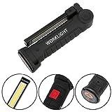 Gusspower Lampe de travail LED COB rechargeable USB -  Lampe de poche à LED COB, Lampe de poche, Lampe d'inspection avec aimant - camping, maison, urgences