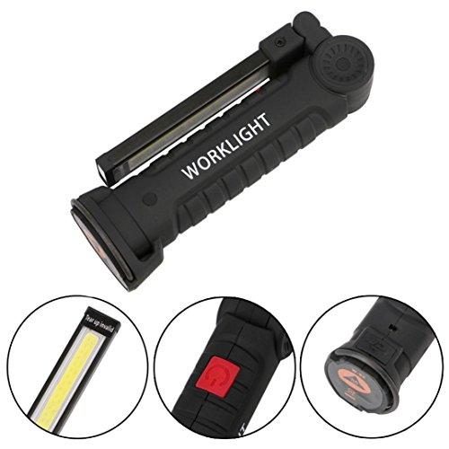 Lampe de travail pour lampe de poche à DEL rechargeable USB Gusspower avec lampe de poche - Feux d'inspection magnétiques pour lampe de poche à DEL - Auto, camping, urgence à la maison, garage