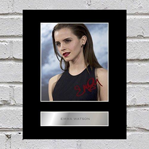 Emma Watson firmado foto enmarcada