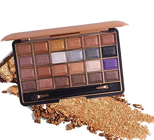 Pure Vie 24 Colori Palette Ombretti Cosmetico Tavolozza per Trucco Occhi #3 - Adattabile a Uso Professionale che Privato