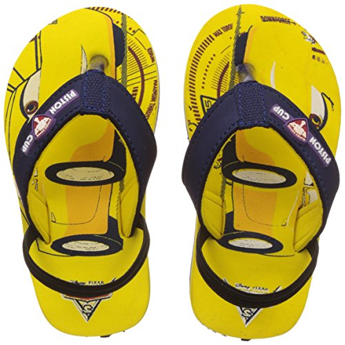 Cars Boy's Yellow Flip-Flops and House Slippers - 10 kids UK/India (28 EU)
