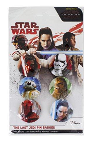 ie Letzten Jedi Pin Badges, Unisex, ONE SIZE (Amazon Luke Skywalker Kostüm)