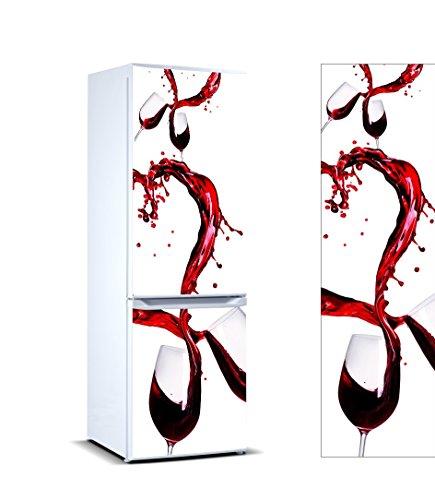 Pegatinas 3D Vinilo Frigorífico copas vino   Varias