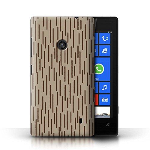 Stuff4® Hülle/Case für Nokia Lumia 520 / Regentropfen Kalten Krieges Muster/Militär Camouflage Tarnung Kollektion