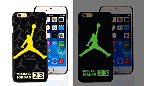RONNEY'S Air Jordan Luminous PC BLACK Hard Case for Apple Iphone 6+/6+S DESIGN 7 Design 5