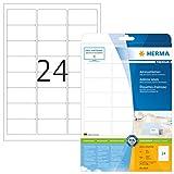 Herma 4500 Premium Adressetiketten (63,5 x 33,9 mm) weiß, 600 Adressaufkleber 25 Blatt A4 Papier matt, bedruckbar, selbstklebend