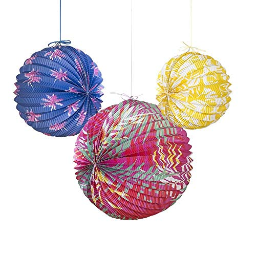 Talking Tables FST4-PAPERLANTERN Lanterne de Papier, 3pk Multicolore, 34,5 x 20,5 x 34,5 cm