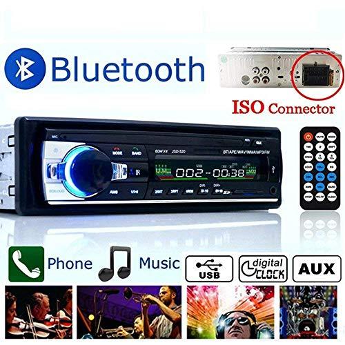 Boom Boost Car Stereo 12V FM in Dash Radio 1 DIN SD / USB AUX Bluetooth Handsfree Car Radio Autoradio