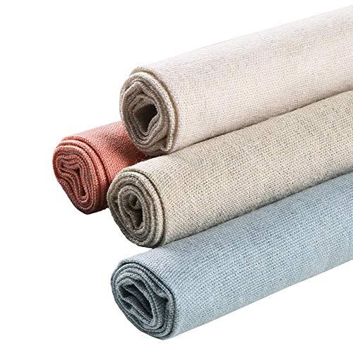 4 piezas tela lino natural confeccionar ropa, 20 pulgadas