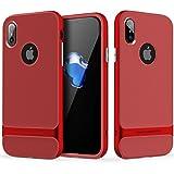 ROCK ''Royce'' iPhone X TPU+PC Schutzhülle, Tasche ,Hülle, Bumper Handycase für iPhone X - rot