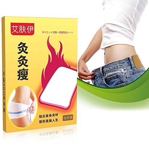 50 Stk Abnehmen Patch Gewichtsverlust Navel Aufkleber Fettverbrennung Detox Adhesive Aufkleber für Fett Faul Menschen