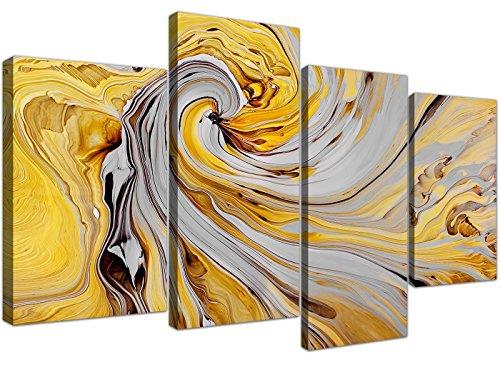 Cuadro abstracto en lienzo de 4 piezas