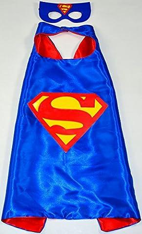 Superman Superhelden-Kostüme für Kinder - Cape und Maske - Spielsachen für Jungen und Mädchen - Kostüm für Kinder von 3 bis 10 Jahre - für Fasching oder Motto-Partys! - King Mungo -
