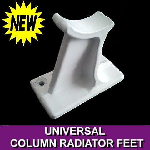 UNIVERSAL COLUMN RADIATOR SUPPORT FEET WHITE CAST IRON TRADITIONAL 2 3 4