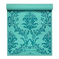 Gaiam Yoga Mat -Colour options available (Teal Floral Print)