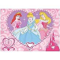 GUIZMAX Tapis Enfant Princesse 133 x 95 cm Disney Jewels