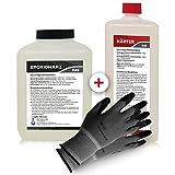Epoxidharz mit Härter | 3,25kg GfK set | Profi Qualität klar & geruchsarm | Laminier- und Gießharz + Schutzhandschuhe
