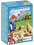 Playmobil - 5209 - Jeu de Construction - Famille de Golden Retrievers