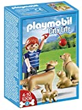 Playmobil - Golden Retrievers con cachorros, set de juego (5209)