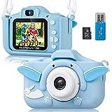 ELEPOWSTAR Appareil Photo Enfants Selfie de 3 à 10 Ans, 1080P HD 8 Mpixels Enregistrement Vidéo de Prise de Vue Photo Incassa