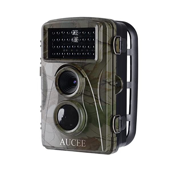 AUCEE Hunting Camera, 12MP 1080P Full HD Trail Camera Infrared Wildlife Camera with Night Vision up to 65FT, 2.4 inch LCD Screen and IP56 Waterproof Game Cam for Wildlife Monitoring