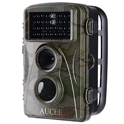 """AUCEE Wildkamera, Fotofalle 12MP 1080P Full HD Jagdkamera Weitwinkel Vision Infrarote 20m Nachtsicht Wasserdichte IP56 Wildlife Kamera mit 2.4"""" LCD Display Überwachungskamera für Wildlife Monitoring"""