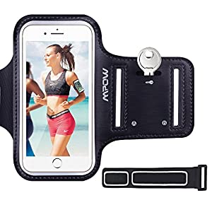 iPhone 6 6s iPhone 7 Armband, Mpow Sweatproof Sports Running Armband (with Reflective Strap + Key Holder) Phone Holder for Running Compatible with iPhone 6 / 6s (4.7 inch) for Jogging, Gym, Cycling, Biking, Hiking, Horseback Riding