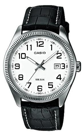 Casio Collection – Herren-Armbanduhr mit Analog-Display und Echtlederarmband – MTP-1302PL-7BVEF