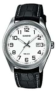 Casio - Vintage - MTP-1302L-7BVEF - Montre Homme - Quartz Analogique - Cadran Blanc - Bracelet Cuir Noir
