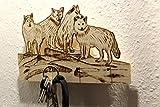 Schlüsselbrett mit Wolfsrudel