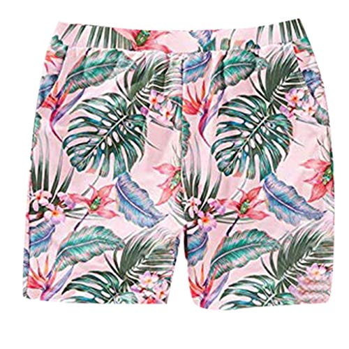 DQANIU ❤️❤️ Mama & Papa & Me, Frauen/Männer/Kind Mädchen/Jungen Familie Baden Bikini Blatt Print Bademode Badeanzug -