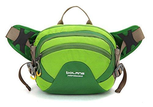 Outdoor peak Unisex Nylon wasserdicht Gürteltasche Multifunktions-Tasche Messenger Bag Transporttasche Reisetasche Kettle Paket Tagetasche Fahrrad Bergsteigen Grün