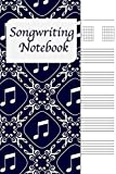 Songwriting Notebook: Lyrics Journal , Cornell Notes and Staff Paper with room for Guitar Chords, Lyrics and Music. Songwriting Journal for Musicians, Students , Lyricists. Purple 8th Note Pattern