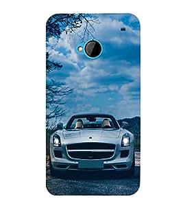 PrintVisa Honeymoon Ride Car 3D Hard Polycarbonate Designer Back Case Cover for HTC One :: HTC One M7