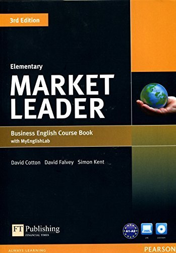 Market Leader Elementary Coursebook with DVD-ROM and MyEnglishLab Student Online Access Code Pack 3rd Revised edition by Cotton, David, Falvey, David, Kent, Simon, O'Driscoll, Nina (2013) Paperback