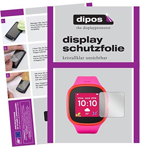 dipos I 6X Schutzfolie klar passend für Alcatel Movetime Family Watch MT30 Folie Bildschirmschutzfolie