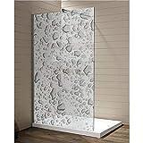 Interfoil wasserfeste Folie für die Dusche, Sichtschutz Duschkabine, hochwertiger Druck auf Glasdekor -Folie in Sandstrahl -Optik mit satinierten Oberfläche