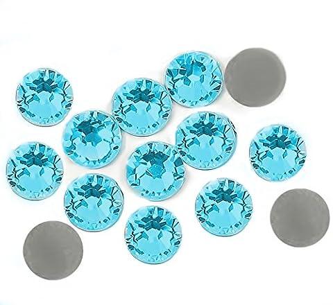 500 CRYSTAL STRASSSTEINE 3MM IN Hellblau (Aquamarine) zum Aufkleben.No Hoffix (Hellblau) (Natürliche Aquamarine Kristall)