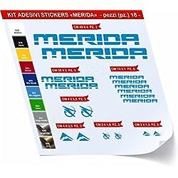 Kit de pegatinas para bicicleta Merida, 18 unidades, diferentes colores, cód. 0420, Blu Leggero cod. 053