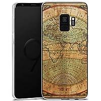 Samsung Galaxy S9 Silikon Hülle Case Schutzhülle Antike Weltkarte Map Karte