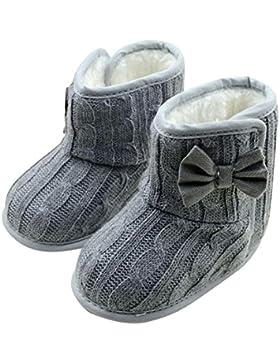 IMJONO Babyschuhe Mädchen Jungen Neugeborene Schuhe Weiche Krabbel weiche Sohle Winter warme Schuhe Rutschfest...
