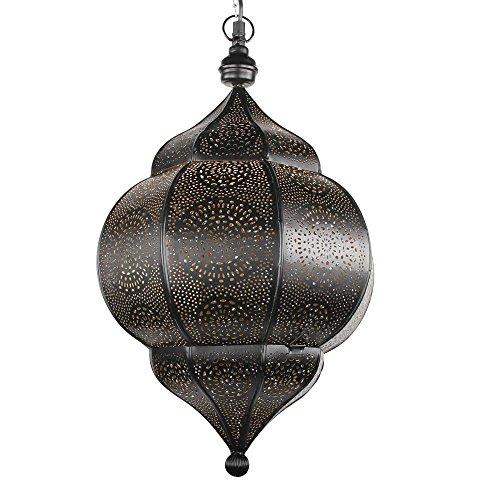 albena shop 71-5310 Abha orientalische Lampe schwarz/innen gold H 45cm / ø 27cm 2